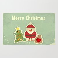 merry christmas Area & Throw Rugs featuring Merry Christmas by Cs025