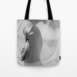 Gijinka Angel Ogura on the Clouds - Black and White Edition Tote Bag