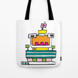 Big Smile Robot Tote Bag
