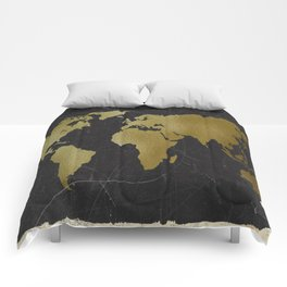 World Map Collection Comforters