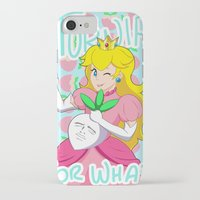 princess peach iPhone & iPod Cases featuring Princess Peach by Kyra Draws
