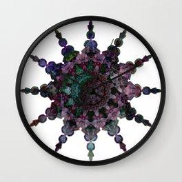 Purple Seaflake Wall Clock