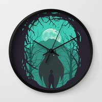 scary Wall Clocks featuring Scary Monsters and Nice Sprites by filiskun