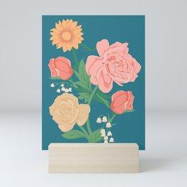 Paint by Number Florals Mini Art Print