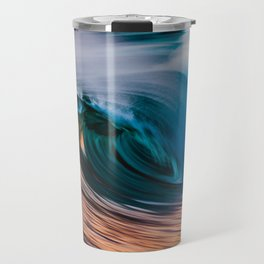 Slow Shutter Of Wave Travel Mug