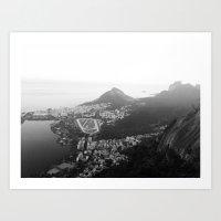 rio de janeiro Art Prints featuring Rio de Janeiro, Brasil by Angelika Albaladejo