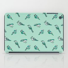 doodle birds - mint iPad Case