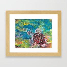 Sea Turtle Dream Framed Art Print