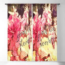 Smell the Flowers Blackout Curtain
