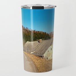 Traditional abandoned farmhouse | architectural photography Travel Mug