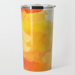 Colorful Abstract - red orange pattern Travel Mug