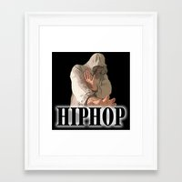 hiphop Framed Art Prints featuring HIPHOP GUY by Robleedesigns