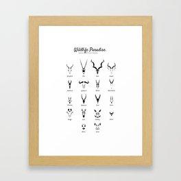 Wildlife Paradise Framed Art Print