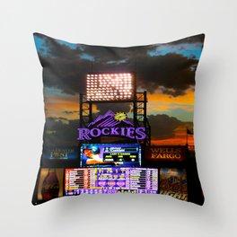 Coors Field Throw Pillow