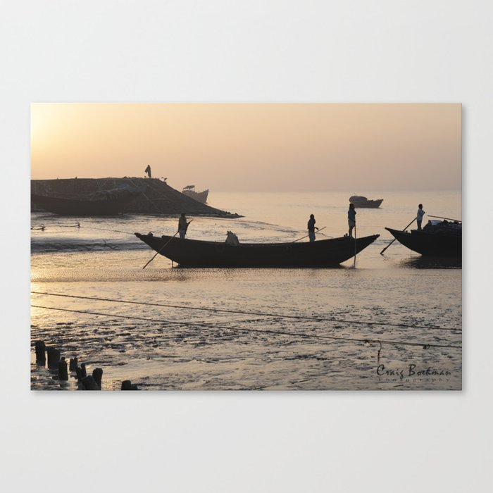 Raichak Fishermen Canvas Print