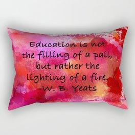 Lighting of a Fire Rectangular Pillow