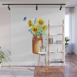 Country Sunflower Wall Mural