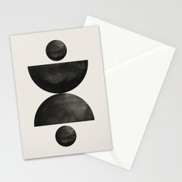 Abstract watercolor creative black geomectric shape minimalist artistic hand drawn. Lovely abstract art. Elegent home decor. Stationery Cards