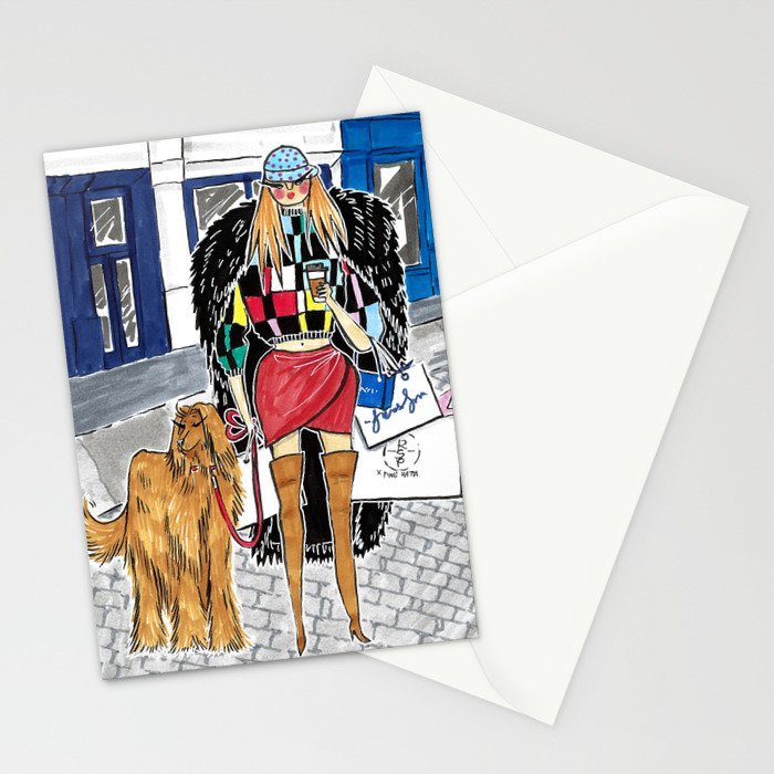 SoHo Girl – Original Fashion art, Fashion Illustration, Fashion wall art, Fashion painting, New York Stationery Cards