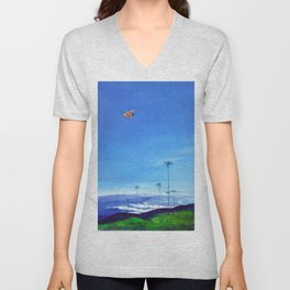 Diving Angel Unisex V-Neck