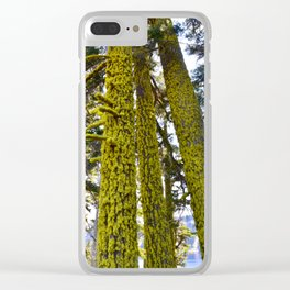 Lichen Madness - Crater Lake National Park Clear iPhone Case
