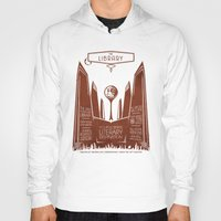 literary Hoodies featuring The Library - Your Ultimate Literary Destination by futuristicvlad
