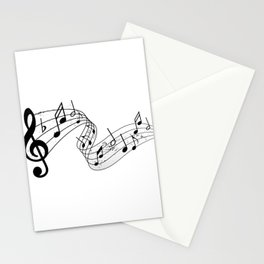 Vintage Music Treble Clef Stationery Cards