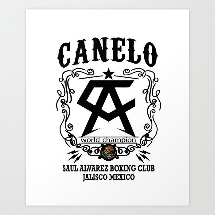 Canelo Mexico Art Print By Kattymeow Society6