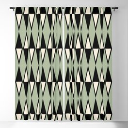 Mid Century Modern Diamond Pattern Sage Green 234 Blackout Curtain