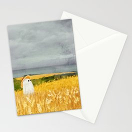 There's a ghost in the wheat field again... Stationery Cards