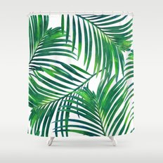 Palm Paradise #society6 #decor #buyart Shower Curtain