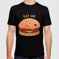 Burger Black Mens Fitted Tee X-LARGE