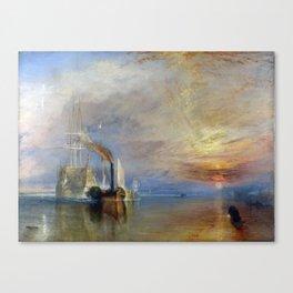 The Fighting Temeraire Joseph Mallord William Turner 1839 Canvas Print