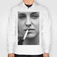 smoking Hoodies featuring smoking by kuzmafoto