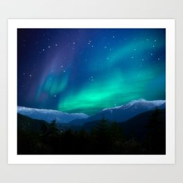 Bright Stars in the Early Morning Sky Art Print