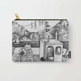 Fox on Fishing-boat Carry-All Pouch