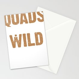 Quads Gone Wild 4 Wheeling 4x4 Mud Four Wheeler Off Road ATV Stationery Cards