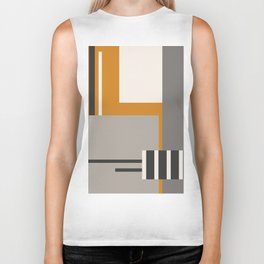 PLUGGED INTO LIFE (abstract geometric) Biker Tank