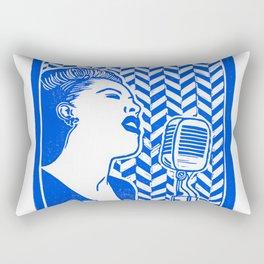 Lady Day (Billie Holiday block print) Rectangular Pillow