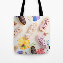 Eclairs with toppings Tote Bag