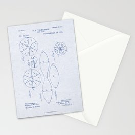 Football Patent Blue Paper Stationery Cards