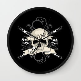 Bad 2 The Bones Wall Clock