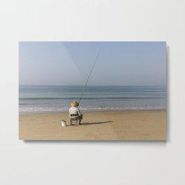 i'm going fishing Metal Print