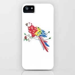 Bird of Costa Rica, scarlet macaw iPhone Case
