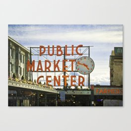 Seattle Pike Place Market Canvas Print
