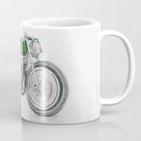 motorbike Mugs featuring MOTORBIKE by EDENLAND