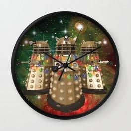 Holiday Daleks Wall Clock
