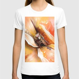 Fly on flower 8 T-shirt