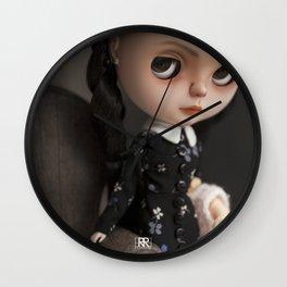 Erregiro Blythe Custom Doll Wednesday Addams Wall Clock