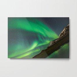 Aurora Borealis - Northern Lights over Iceland Metal Print